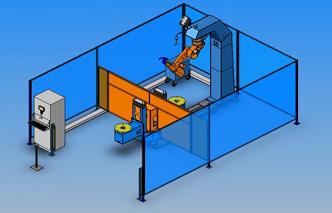 Sistem robotizat compact pentru sudarea cu arc electric